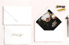 Foil & Lined Envelopes Personal Stationery Unique Wedding Invitations, Wedding Stationery, Personalized Stationery, Envelopes, Cards, Personalized Stationary, Maps, Wedding Invitations