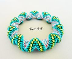 Free Beaded Spiral Bracelet Patterns | Beading Tutorial Pattern - Modified Cellini Spiral bracelet - beaded ...