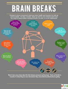 12 Ways to Get Your Brain Moving Infographic