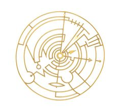 'Plan in a Gold Circle' Brooch by Wendy Ramshaw. 1988. 18ct yellow gold