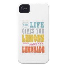 Inspirational Art - Make Lemonade iPhone 4 Case-Mate Cases