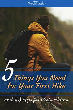 If you're traveling for the first time you'll probably be hiking as well. I will guide you through the jungle of hiking gear and narrow it down to only 5 things you need to buy before your first hike. I will also include; how to test your hiking gear and top 3 apps for photo editing. Prepare for adventure! Hiking Tips | Hiking Gear | Hiking for Beginners | First-Time Travel | Backpacking | Outdoor Adventure | Travel Tips #firsttimetravel #waystotravel #travelsolo #backpacking #hikingadventures Magical Vacations Travel, Vacation Trips, Travel Destinations, Hiking Tips, Hiking Gear, Camping Tips, Travel Advice, Travel Guides, Travel Tips