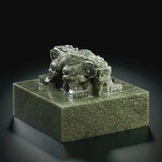 An Imperial Green Jade 'wufu wudai tang guxi tianzi bao' Seal. Qing Dynasty, Qianlong Period