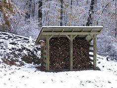 Woodshed in the Winter   We didn't get a lot of snow this pa…   Flickr