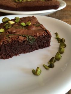 Brownie chocolat-pistache