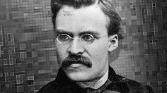 """Friedrich Nietzsche (1844 – 1900) gilt als Wegbereiter des Existenzialismus. Er leugnete Gott sowie einen Sinn des Lebens und der Geschichte. Er forderte eine """"Umwertung aller Werte"""", die der Mensch mit Hilfe des """"Willens zur Macht"""" bewerkstelligen müsse."""