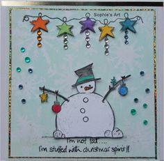 Sophie's Art: Schneemann - snowman - bonhomme de neige