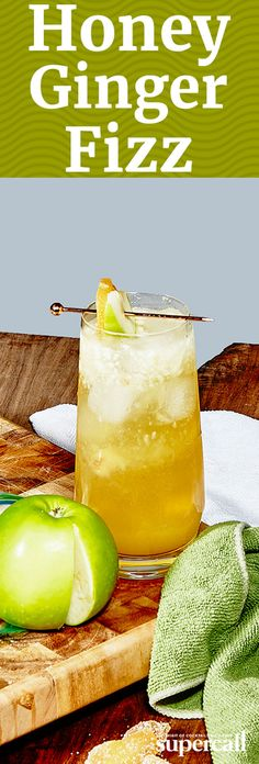 Perfect as an aperitif or even digestif (thanks to the ginger), this mixed drink is a brisk, fall day of apple picking, shaken and strained into a glass.