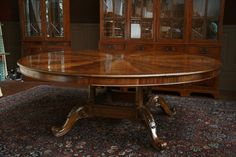 large round dining table seats 12 | large-round-dining-table-large-round-mahogany-table-large-round-table ...