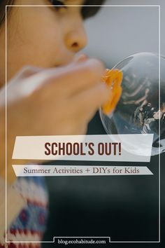 School's Out! Get the kids out in nature with these fun activities and DIYs that don't involve a glowing screen. Such as camping out, painting, and fun outdoor games with a twist. Check them all out on our EcoHabitude Blog!