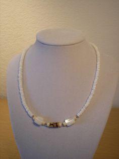 Genuine Puka/Mother of Pearl/genuine amber by CreationsbyMaryEllen, $8.75