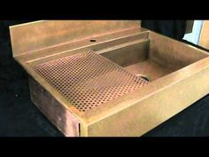 Top mount copper and stainless steel apron front sinks. www.rachiele.com