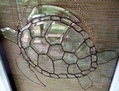Stained Glass Sea Turtle -Loggerhead turtle