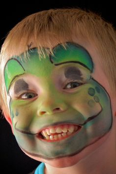 Face Painting Ideas For Children Frog Face Painting For Boys Face