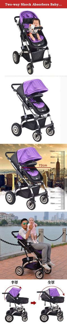 Two-way Shock Absorbers Baby Stroller Baby Car Light Trolley Buggiest (Violet). takes compact, lightweight strolling to new heights. Suitable from birth to 25kg Safety - 5 point safety harness - Durable yet lightweight frame - Engineered suspension for a smooth ride - Lockable swivel wheels - Easy on/off footbrake Multi-Use - 2 way rear and front facing seat - 4 recline to upright positions - Suitable for cafe or high chair substitute Comfort & Convenience - One handed compact fold…