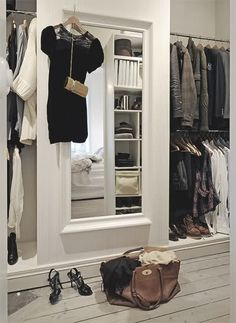 closet make into the front of two sliding doors? Classier than just mirrored doors?