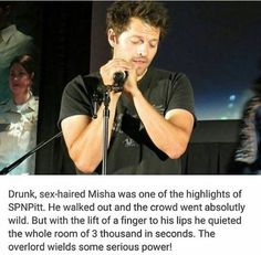Misha is our overlord. We have all accepted it, without argument. All hail his glorious sexy self ❤