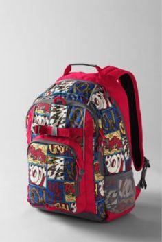 School Uniform Kids  Comic Strip ClassMate® Large Backpack from Lands  End  Lands End 9d696bb393b0a