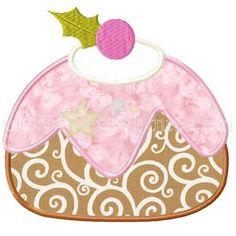 Sugar Plum Pudding Applique Design