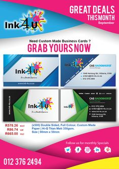 Professional Custom Made Business Card Designs for You.