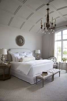rounded coffered ceiling Master Bedroom Hibner Home, Austin, TX Photography by Ryann Ford