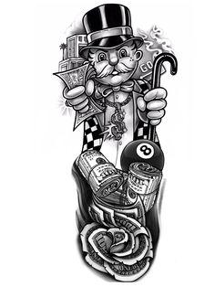Chicano Tattoos Sleeve, Chicano Style Tattoo, Half Sleeve Tattoos Drawings, Forarm Tattoos, Forearm Sleeve Tattoos, Forearm Tattoo Design, Leg Tattoos, Girly Tattoos, Tattoos For Guys