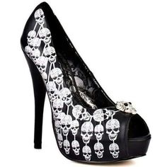 Wicked ass skull heels
