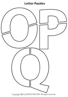 Rompecabezas de las letras del abecedario