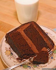 Devil's Food Cake with Chocolate Ganache Recipe