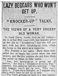 Knocker up talks