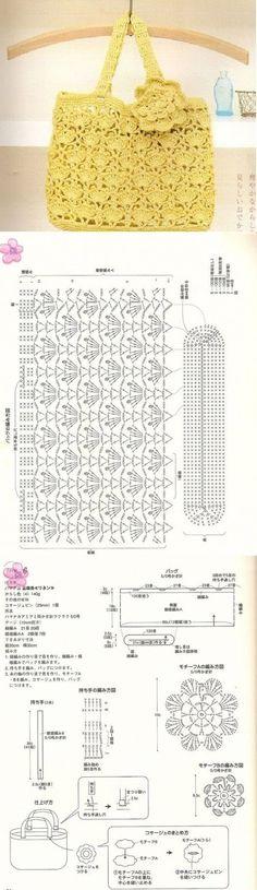 Hoje trago para você lindos esquemas de bolsa de croche passo a passo,  São 20 modelos diferentes.  Uma dica bem legalpara forrar as bolsas é usar cetim ou sarja!!! Para ver as imagens melhor, e copiar,clicar com o lado esquerdo do mouse! Depois, clicar com o lado direito do mouse e clicar …