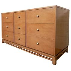 Mid-Century Modern Long Dresser By Kent Coffey | From a unique collection of antique and modern dressers at https://www.1stdibs.com/furniture/storage-case-pieces/dressers/