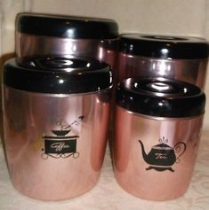 $30 2014 You are purchasing a Vintage set of West Bend Copper Aluminum Canisters. FREE SHIPPING Check out my other Vintage and Unique items. and ENJOY.