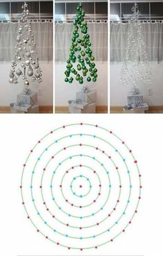 Arbol de Navidad flotante/ Floating Christmas Tree Really like a couple of the I tried this examples tooFloating Xmas tree DIY with templatedo not make if there are pets (cats) or children (babies and toddlers) in the house!Письмо more Pins for Diy Christmas Tree, Xmas Tree, Christmas Projects, Winter Christmas, Christmas Tree Decorations, Christmas Holidays, Christmas Ornaments, Invisible Christmas Tree, Creative Christmas Trees
