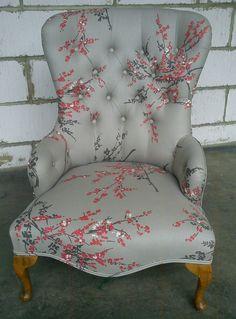 Nursing chair in Romo fabric
