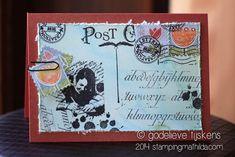 A label and a card, made with leftovers and Art Journey stamps.       Een kaart en een label, gemaakt met restjes en Art Journey stempels...