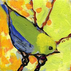Bird Art Print featuring the painting 16 Birds No 2 by Jennifer Lommers Canvas Art, Canvas Prints, Art Prints, Bird Paintings On Canvas, Bird Painting Acrylic, Bird Canvas, Green Paintings, Indian Paintings, Art Plastique