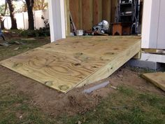 Building a DIY ramp for the shed
