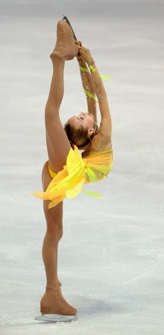 Russian figure skater Elena Radionova performs during the ladies short program of the 45. Nebelhorn trophy figure skating competition in the...
