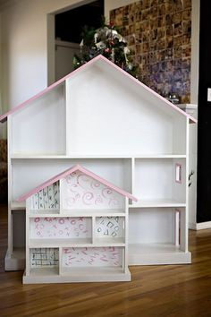 Like this type of #dollhouse. Picture by #AshleyAnnCampbell. For a #tutorial look here: http://ana-white.com/2009/12/plan-dollhouse-bookcase-knock-off-of.html - @Ashley Ann Campbell