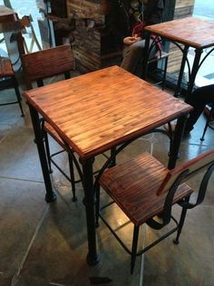 American country to do the old wood bar Iron vintage antique wood furniture dinette combination cafe tables and chairs-in Dining Tables from Furniture on Aliexpress.com | Alibaba Group