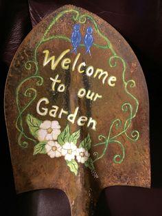 Beautiful garden shovel..