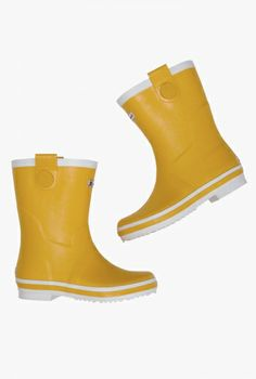 Short Wellies - from Sea Salt, Cornwall Wellington Boot, Ethical Fashion, Mustard Yellow, Rubber Rain Boots, Footwear, Clothes For Women, My Style, Jackets, Sea Salt