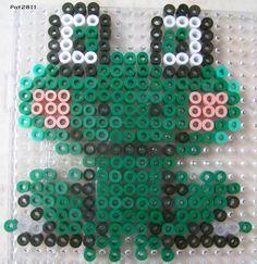Frog hama perler beads by Les Loisirs de Pat