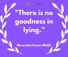 There is no goodness in lying