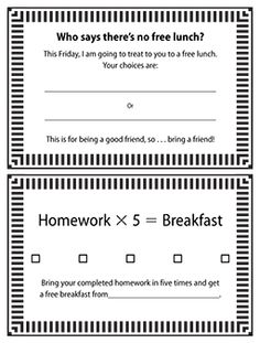 Reminder Cards   Positive Behavior Intervention