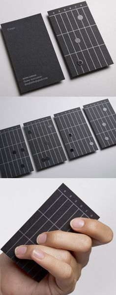 Guitar Business Cards