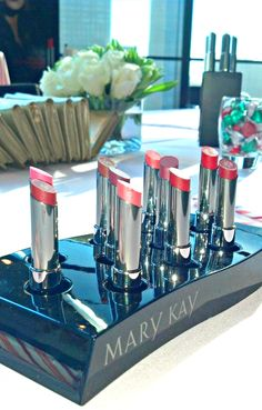 The star of the show! Mary Kay® True Dimensions™ Lipstick from the True Dimensions™ launch event with magazine editors.