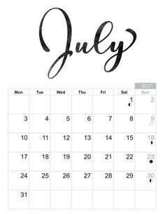 2017 July - Free printable Sheet