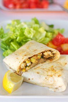 Tofu and Mushroom Burritos -